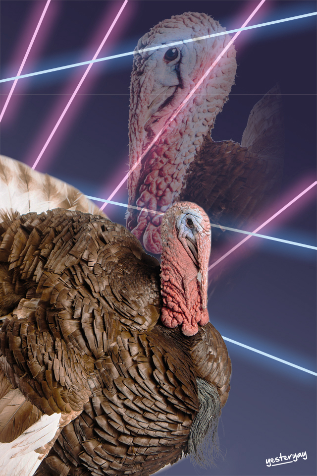 Turkey - 80's Laser Background - Yesteryay